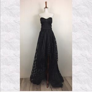 Vintage 80's-90's Strapless High Low Party Dress